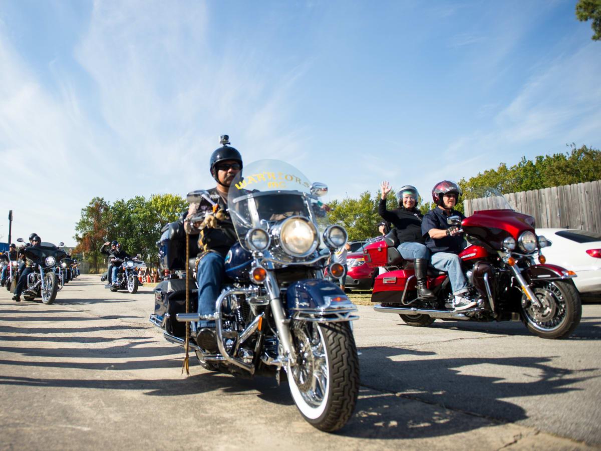 Christus Nun Run Bikers take off headed to San Leon TX