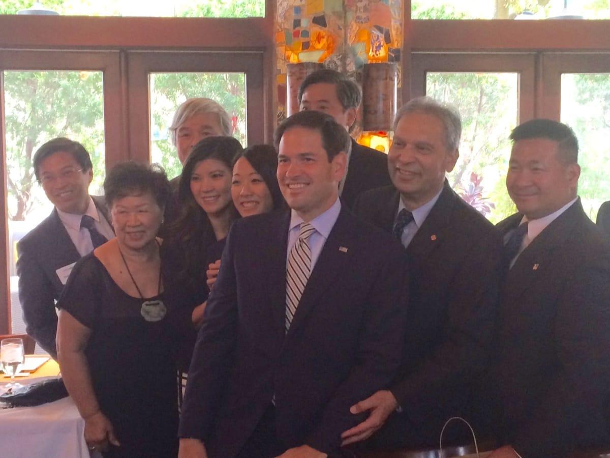 News, Shelby, Marco Rubio at La Griglia, Oct. 2015