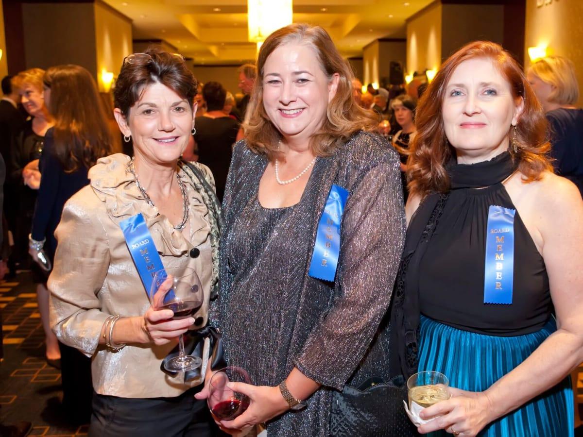 Michele Pola, Susan Kennedy, Michele Mullin at Planned Parenthood Gala