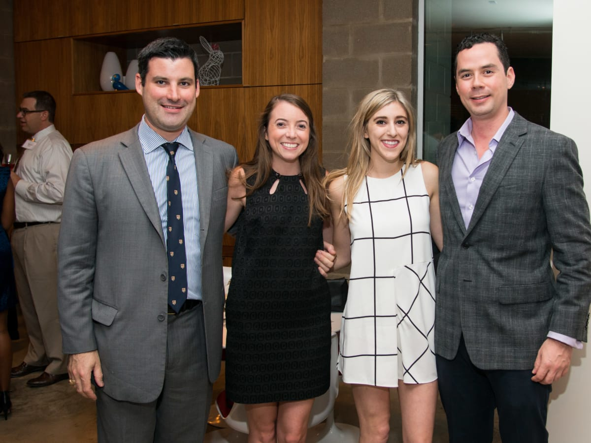 Houston, HGO Young Patrons event, October 2015, Justin Mitchell, Katherine Butler, Corrine Laporte, Claudio Gutierrez