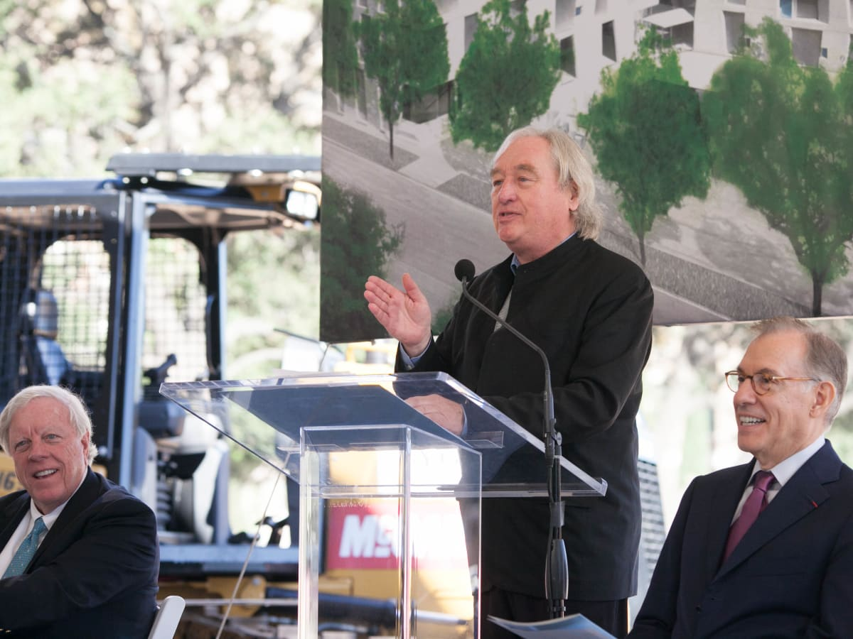 Architect Steven Holl at Museum of Fine Arts Fayez S. Sarofim Campus and the new Glassell School of Art