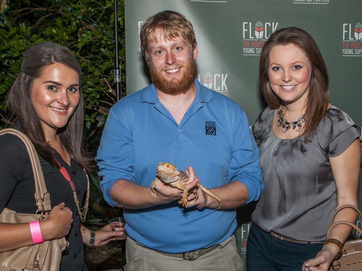 Houston Zoo YP Racheal Kain, Tyler Parker, Sydney Cendalsky