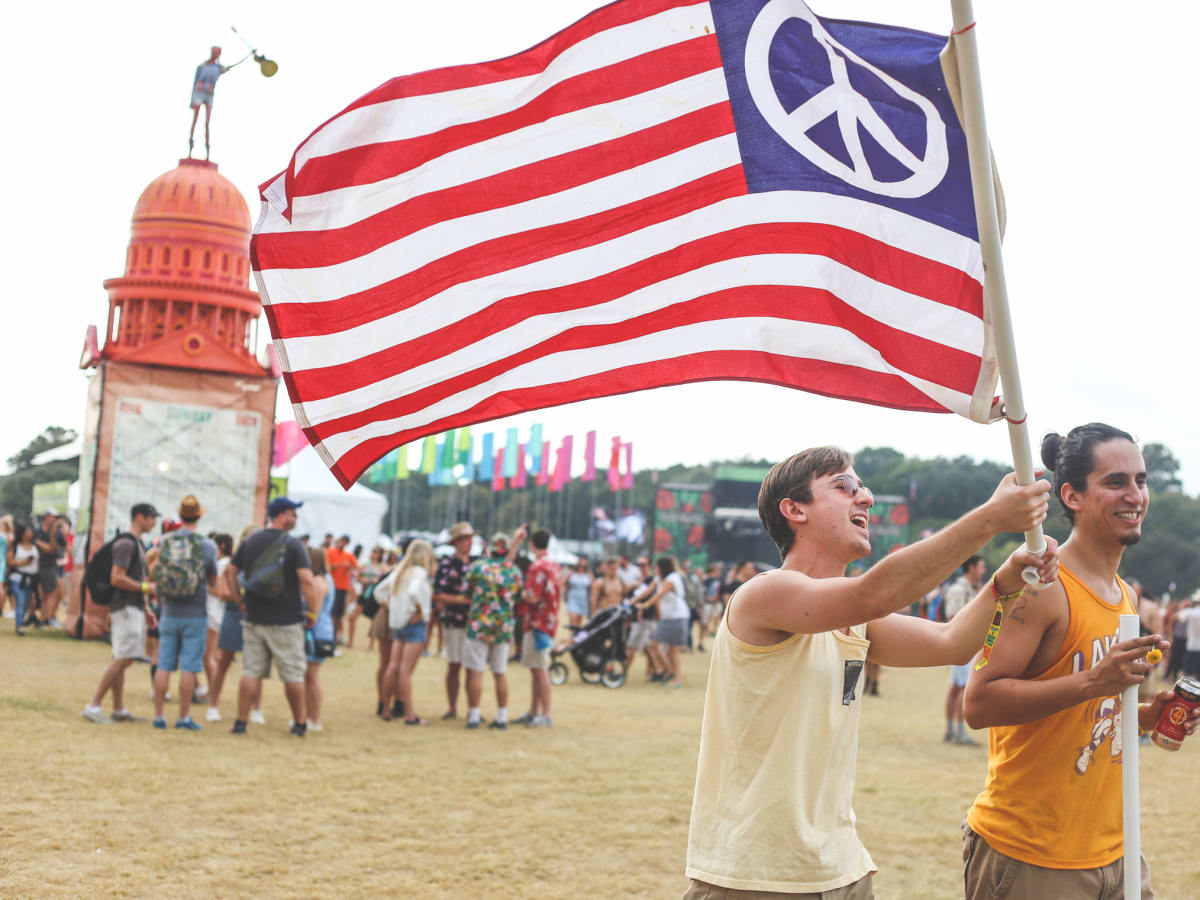 Austin City Limits Festival ACL 2015 Weekend Two Peace Flag