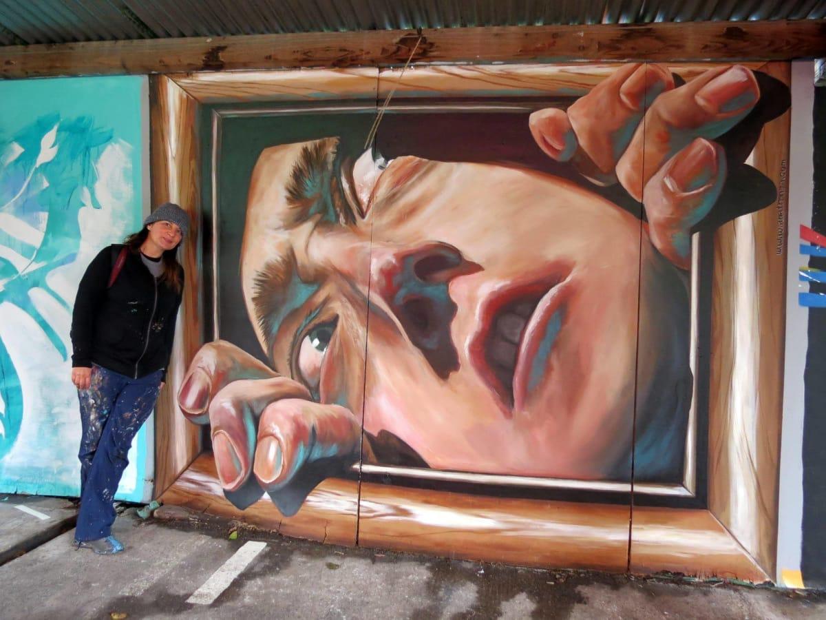 Anat Ronen Houston artist HUE Mural Festival