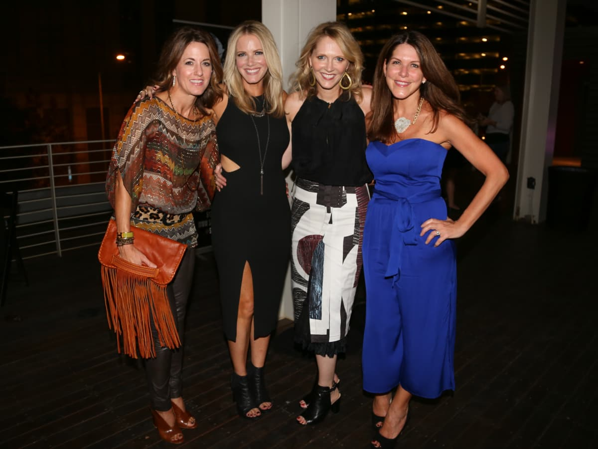 Tribeza Fashion Show 2015 at Brazos Hall Suzanne Erickson Maureen Staloch Patty Rogers Ana Stapleton