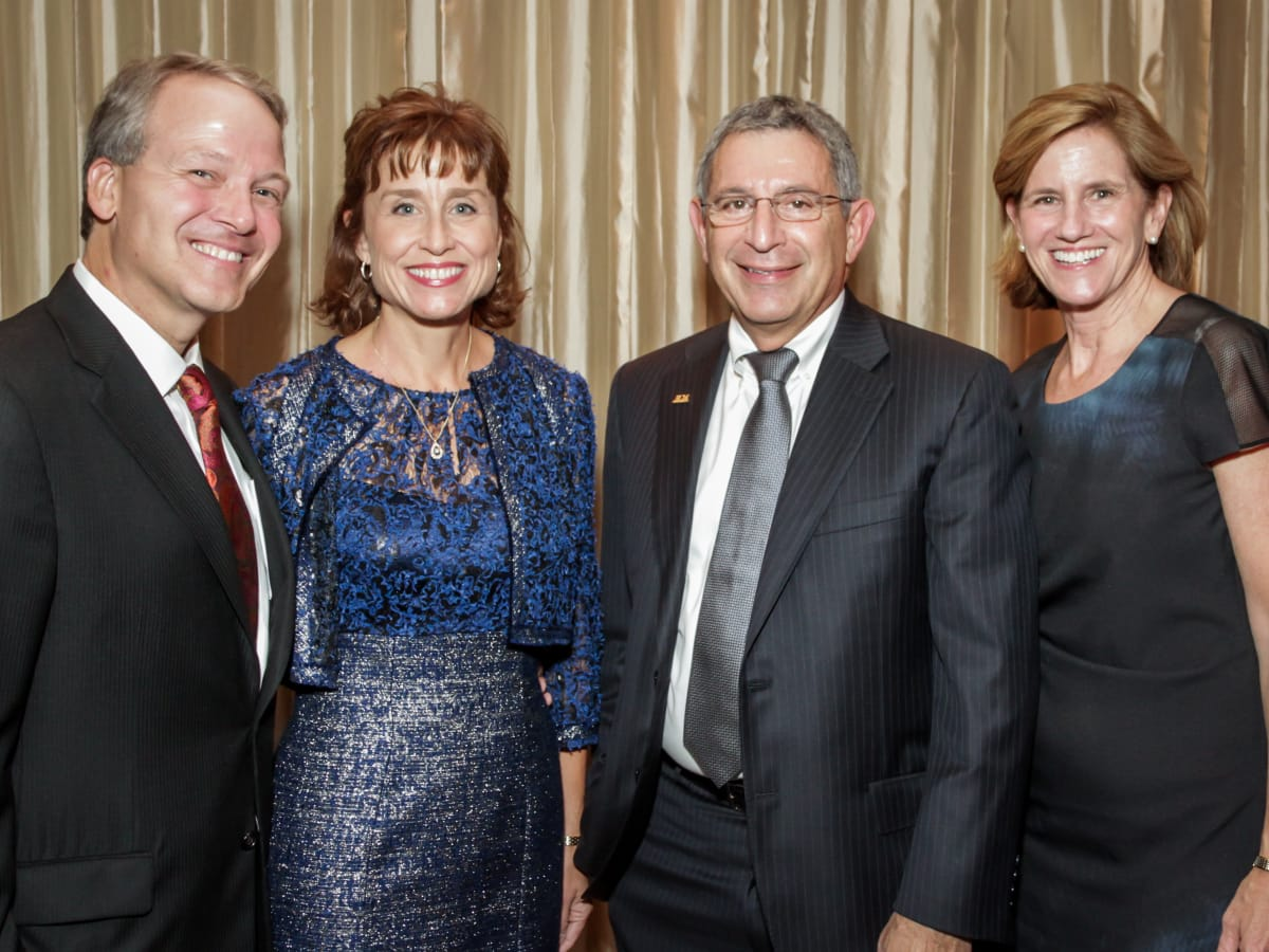 Hearts of Gold Gala Event Co-chairs Dr. Marc Boom and Dr. Julie Boom, Dr. Paul Klotman and Dr. Mary Klotman.