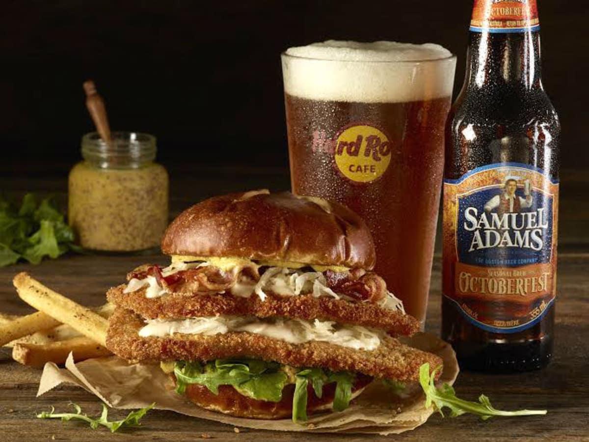 Hard Rock Cafe spaetzle burger
