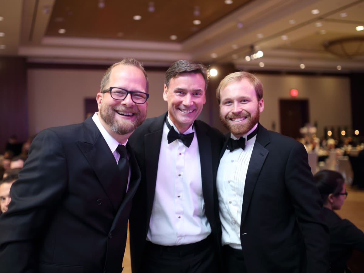 Big Brothers Big Sisters gala 2015 Pastor Chris Seay, Steve McDaniel, CEO Pierce Bush