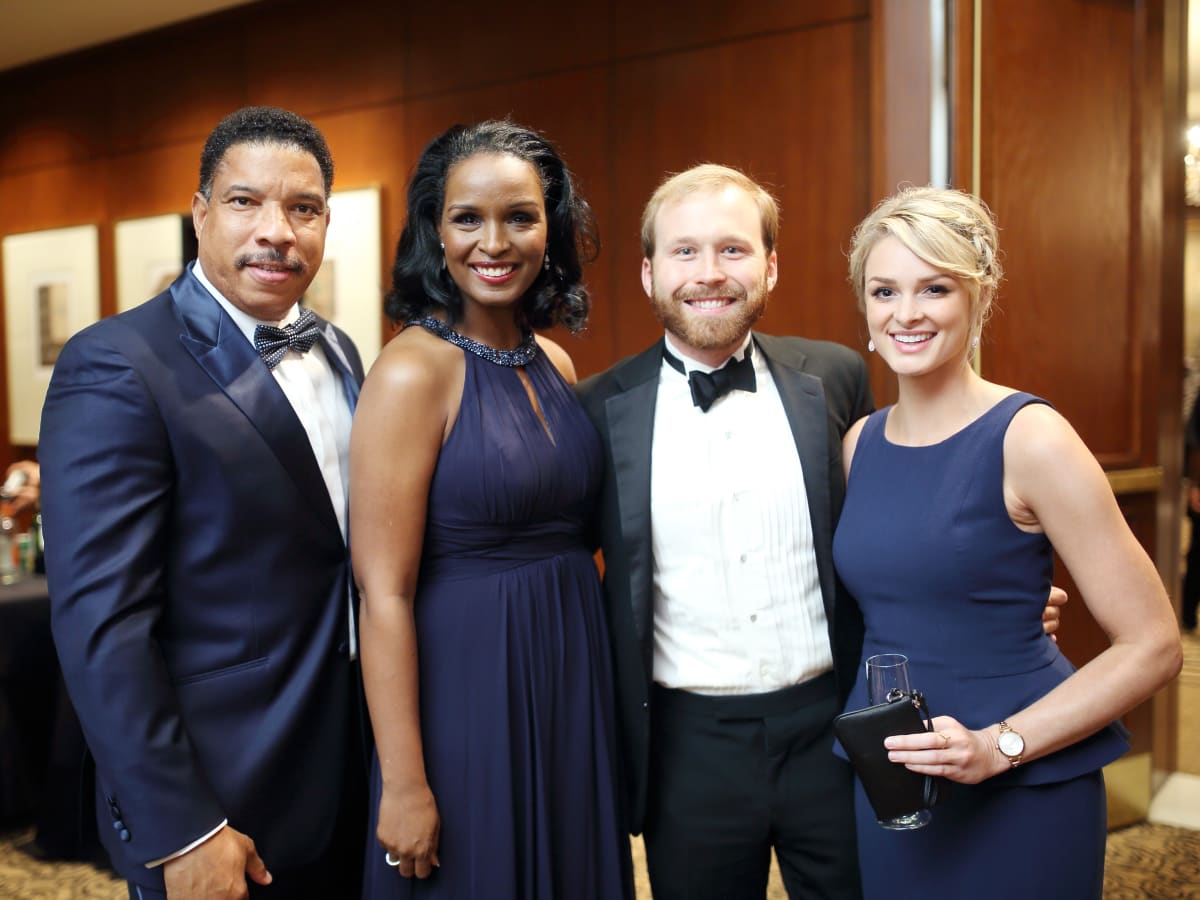 Big Brothers Big Sisters gala 2015 Doug and Winell Herron, Pierce Bush, Sarahbeth Melton