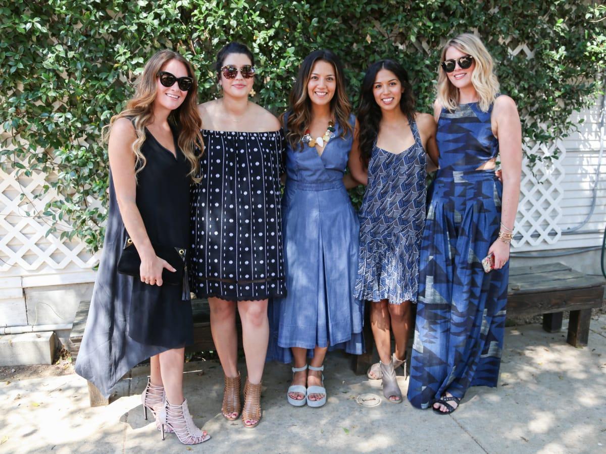 Tribeza Style Brunch 2015 at Justine's Brasserie Kaleigh Wiese Kristen Stoddard Sara Facundo Cristina Facundo Michelle Pimm