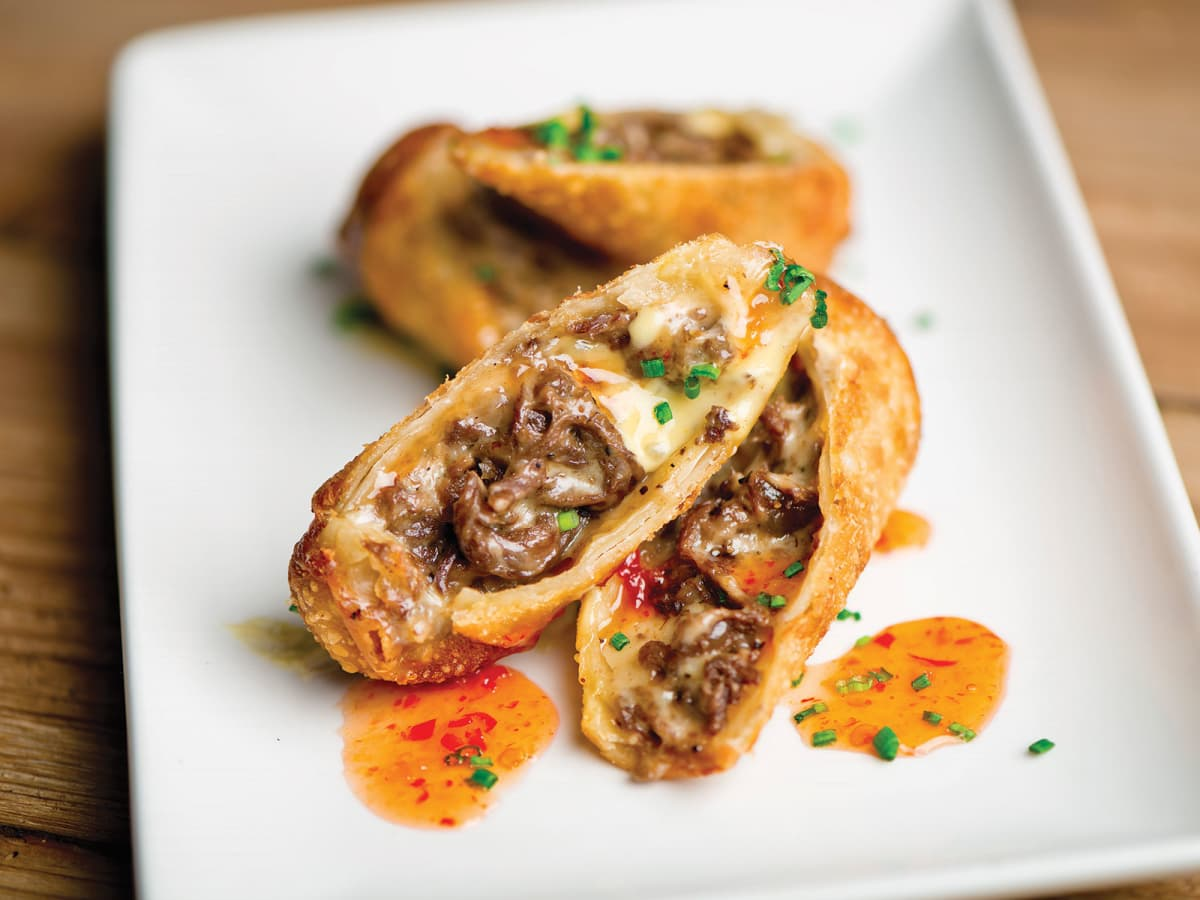 Del Friscos Grille Cheese Steak Egg Roll