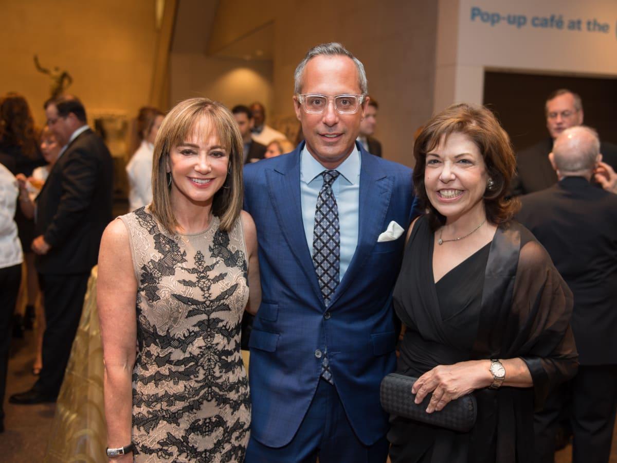 News, Shelby, MFAH Rothko opening, Sept. 2015 Janet Gurwitch, Mark Sullivan, Deborah Kaplan