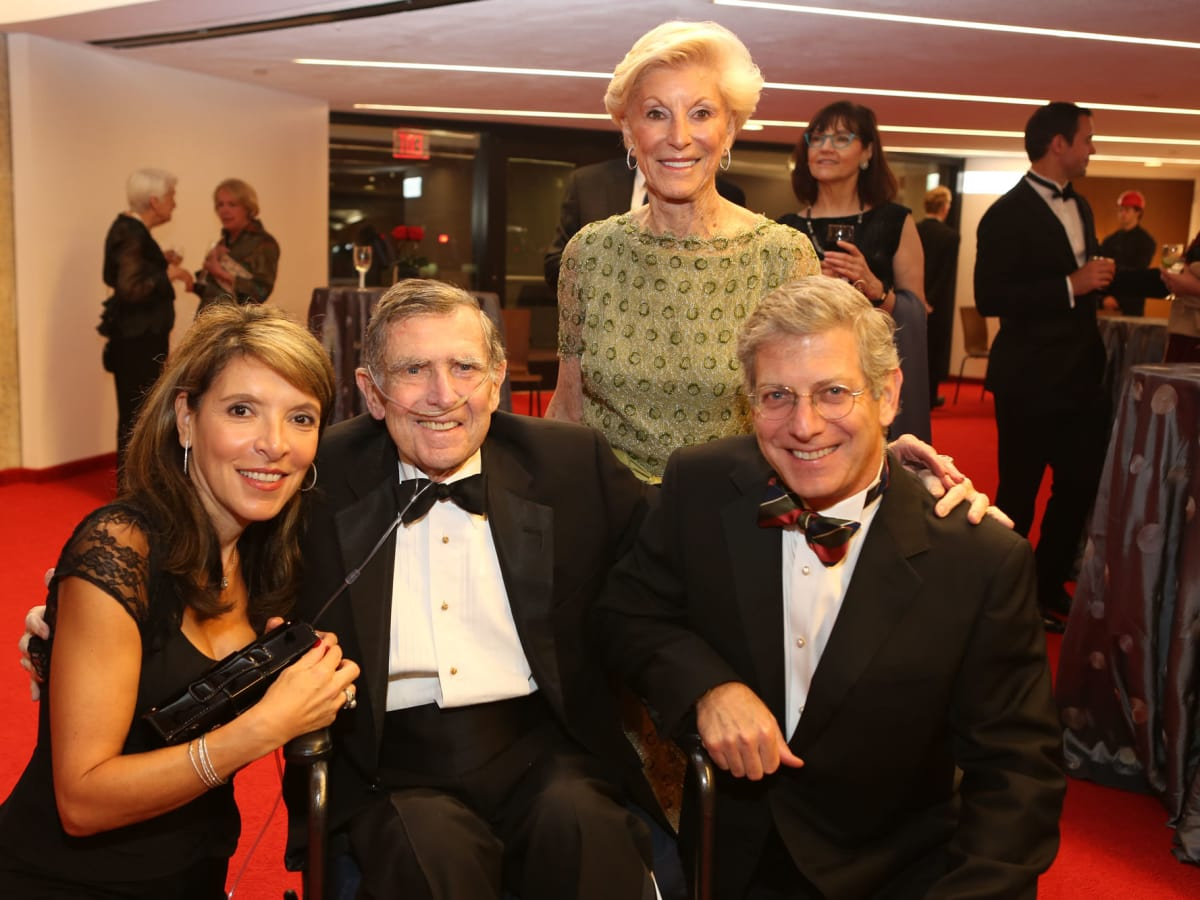 News, Shelby, Alley Theatre opening, September 2015, Karen, Jerry, Nanette and Jonathan Finger