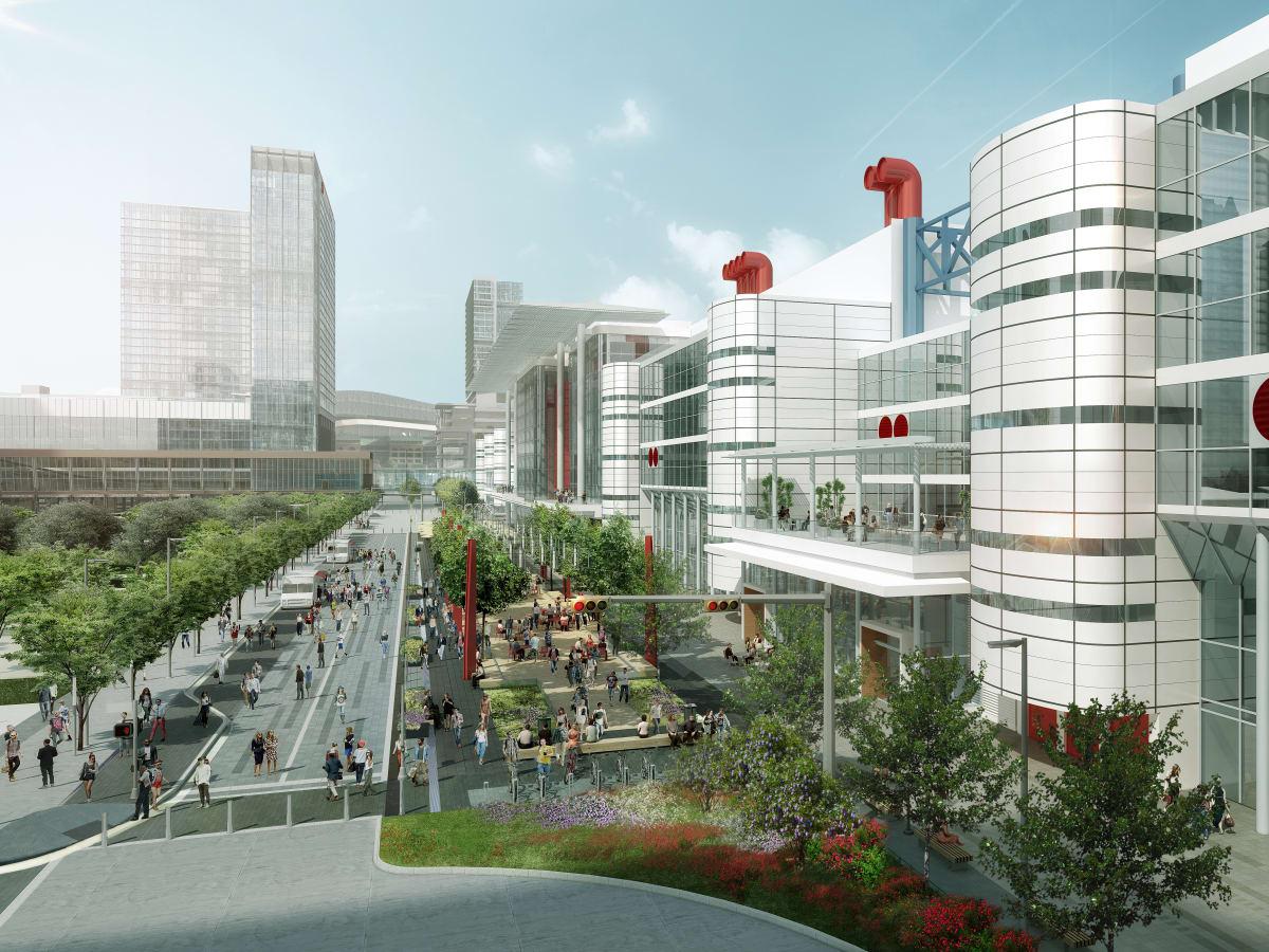 Houston, George R Brown revamp, September 2015, Avenue de Americas