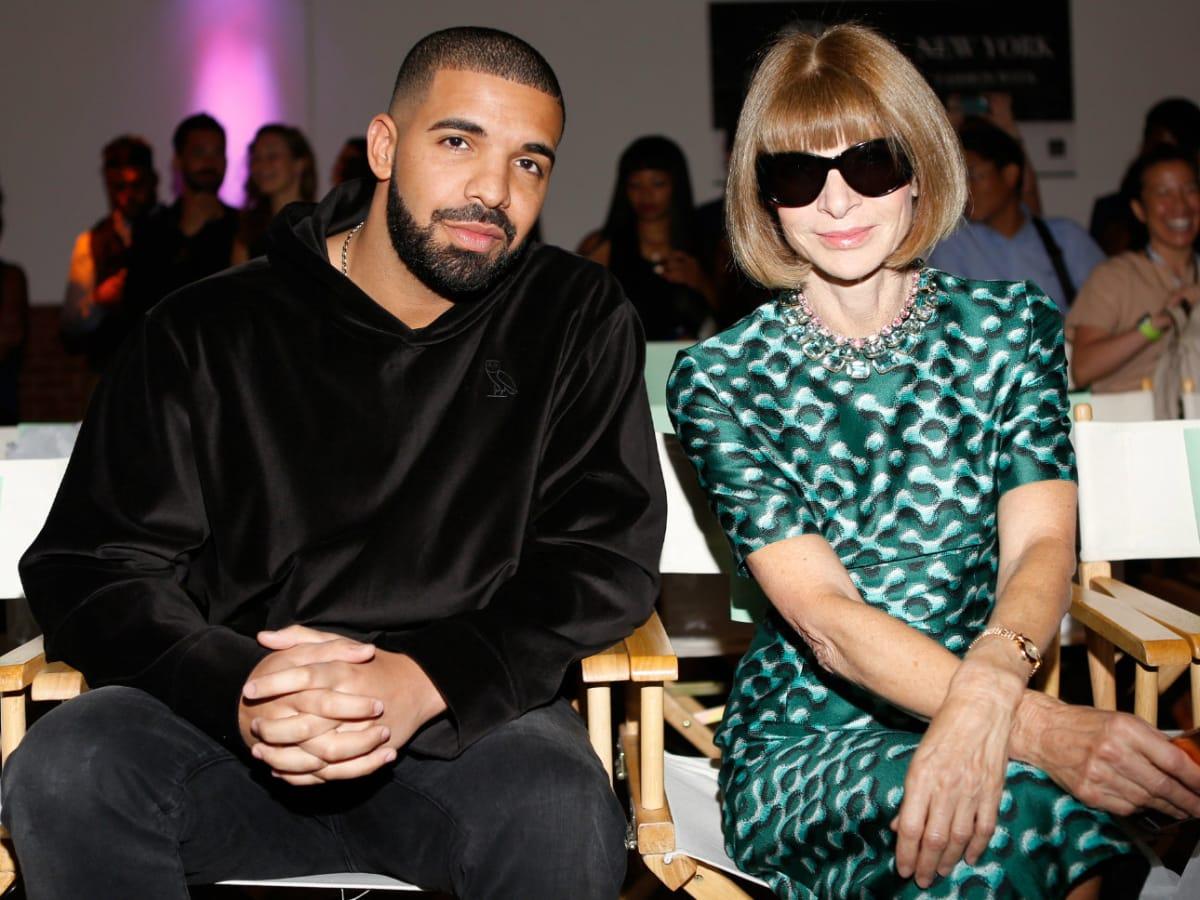 Drake and Anna Wintour at HSN Serena Williams Signature fashion show