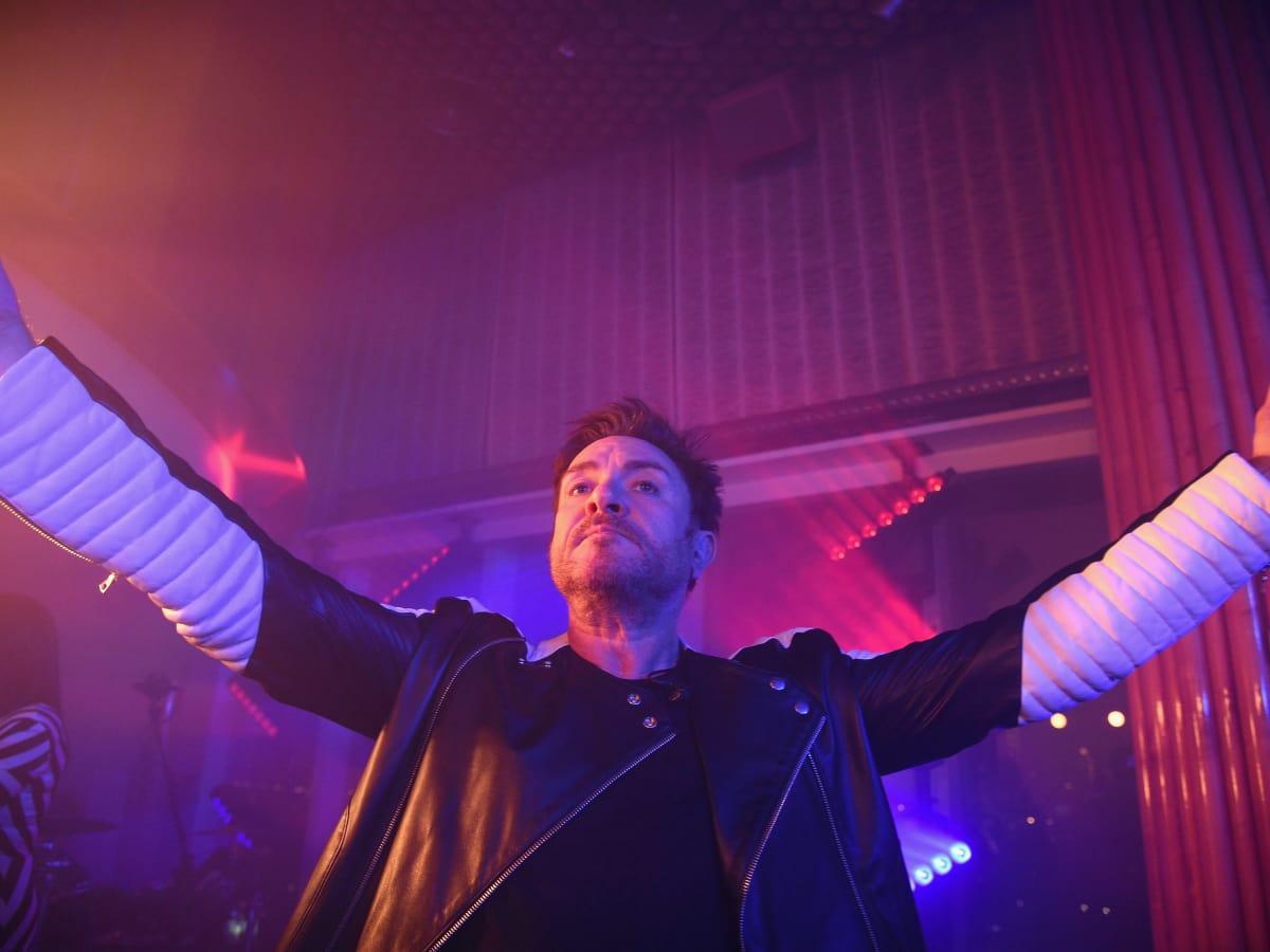 Duran Duran Simon LeBon at launch of Michael Kors Gold Fragrance