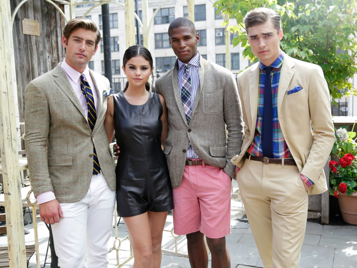 Selena Gomez and Ralph Lauren models at Polo Ralph Lauren presentation at New York Fashion Week