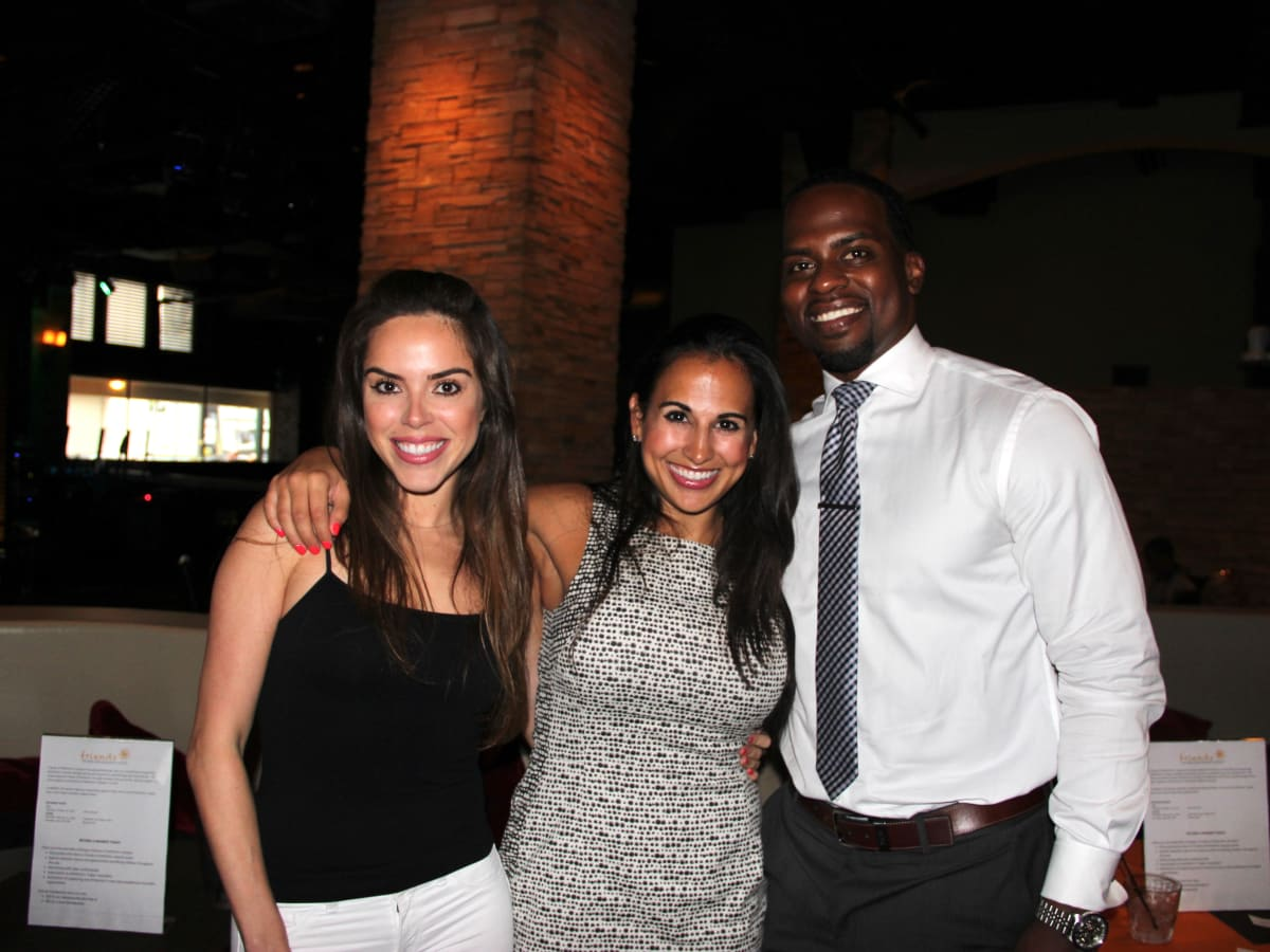 Houston, Friends of Depelchin Back to School Happy Hour, August 2015, Mandy Ramirez, Anna Lyssa Cuevas, DJ Johnson.