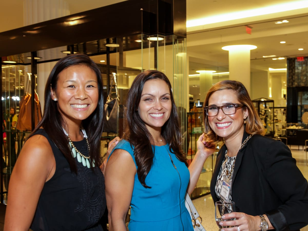 Houston, Ellevate event at Tootsies, August 2015, Vivian Wong, Leela Madan, Thais Amaral Tellawi