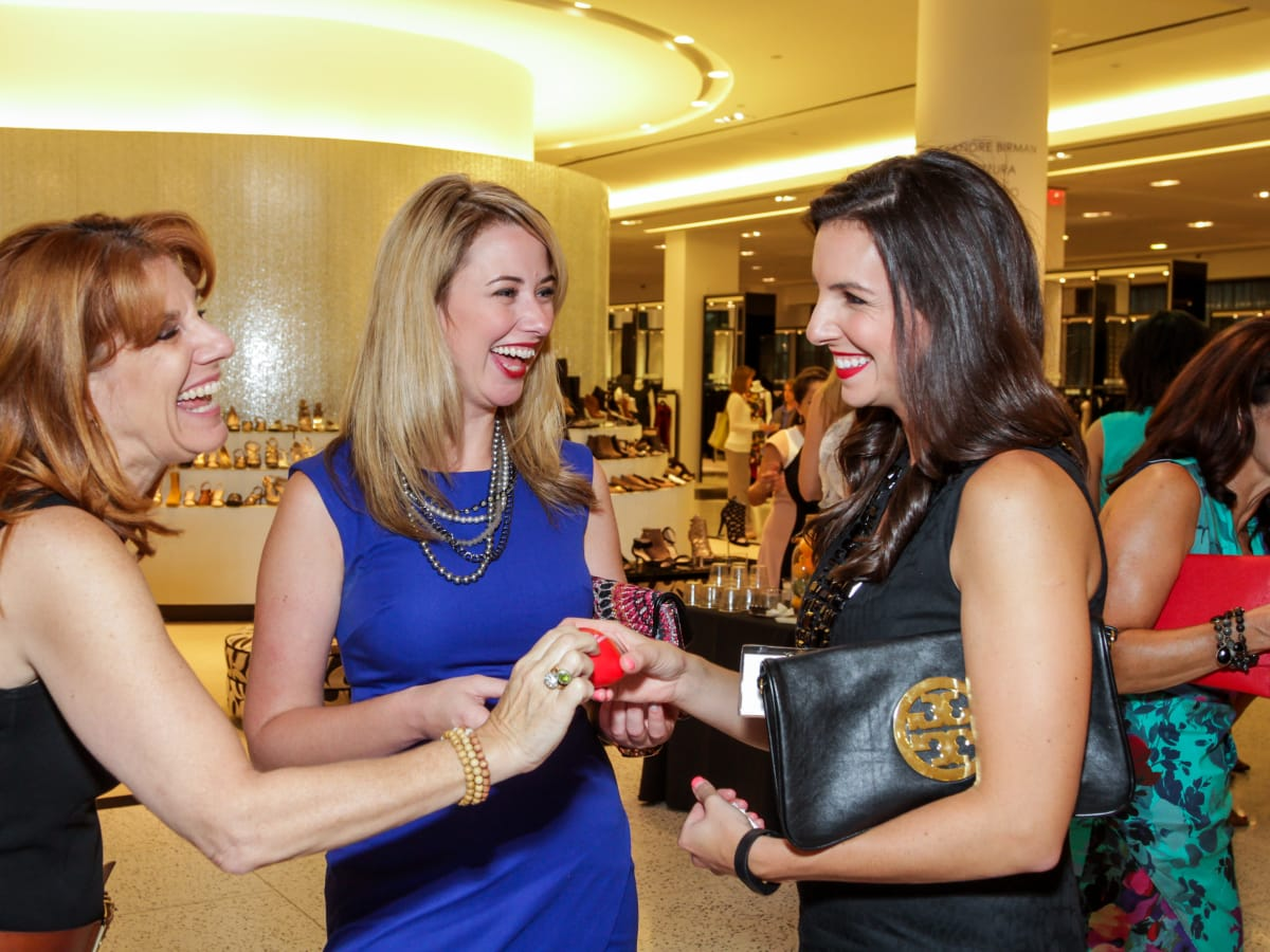 Houston, Ellevate event at Tootsies, August 2015, Jill Wasserstrom, Elizabeth Beguerie, Nicole Bozick