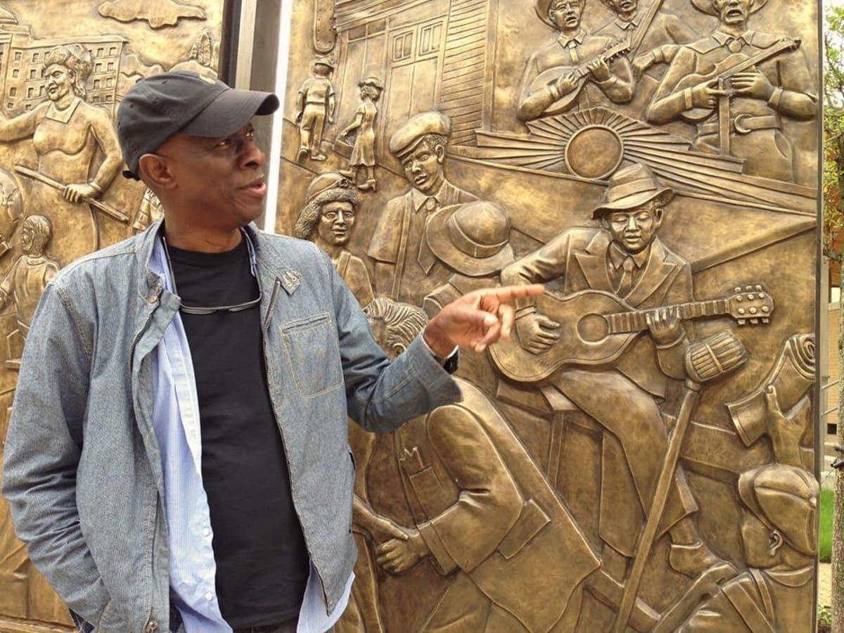 Encore Park Sculpture Wall