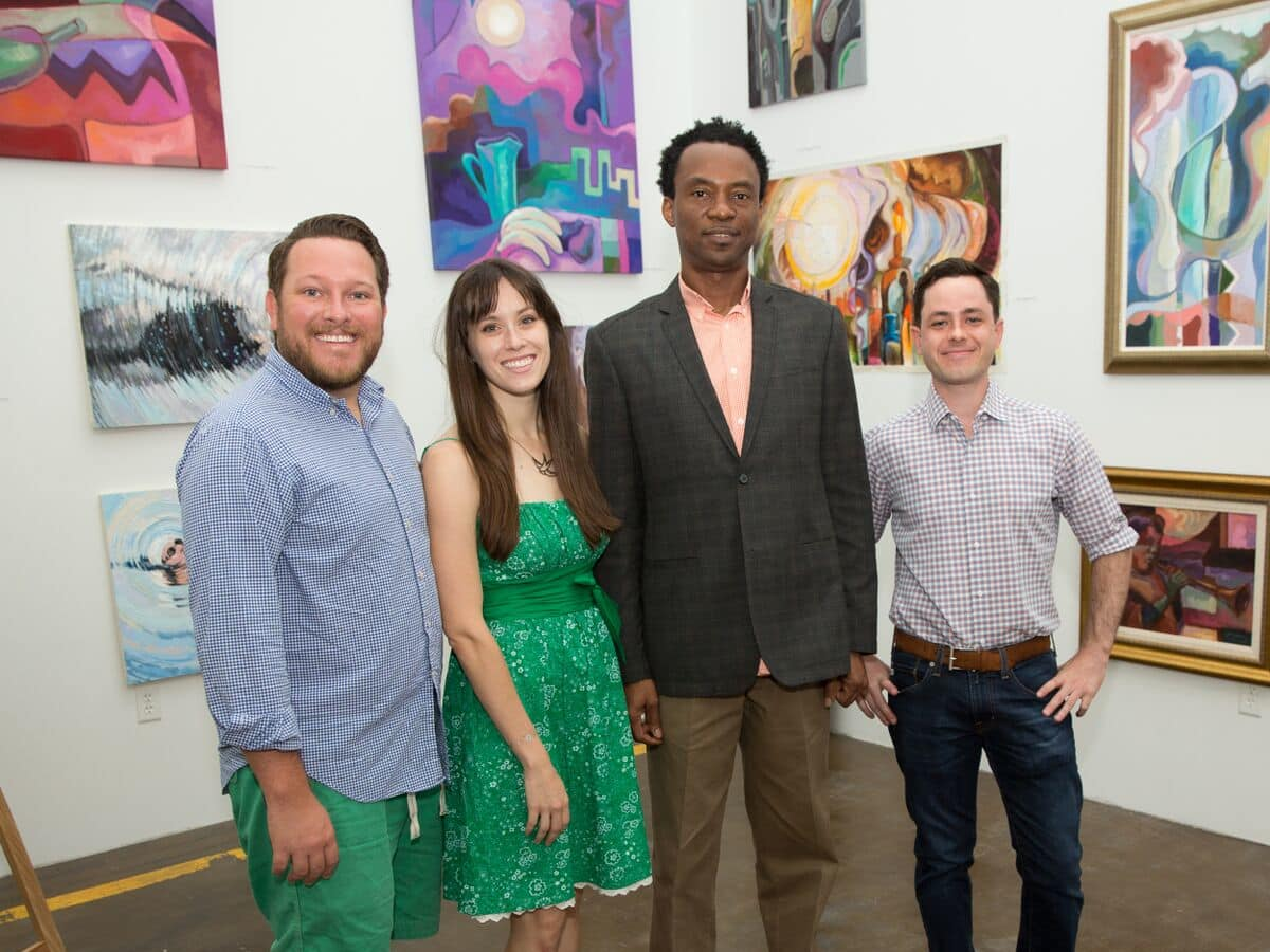 News, Shelby, Opera in the Heights party, August 2015,  Kenny Terrell, Marianne Terrell, Chu Okoli, Jordan Mathews