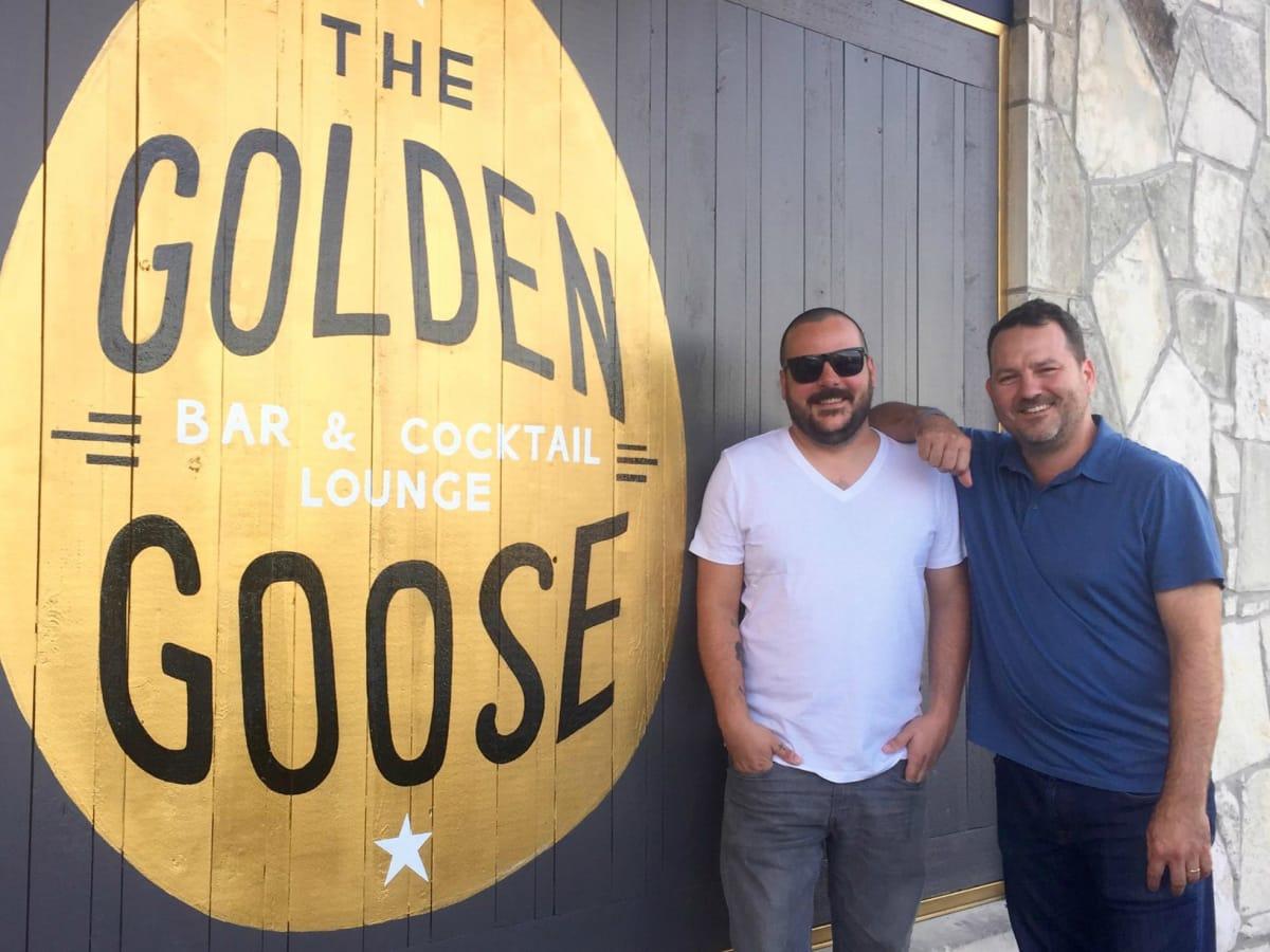 The Golden Goose Austin bar logo Jason Steward Sean Fric 2015