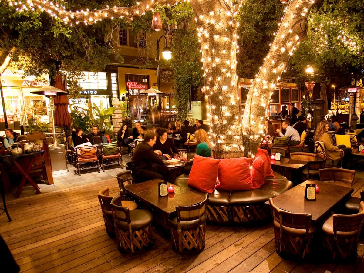 Santana Row night scene San Jose California