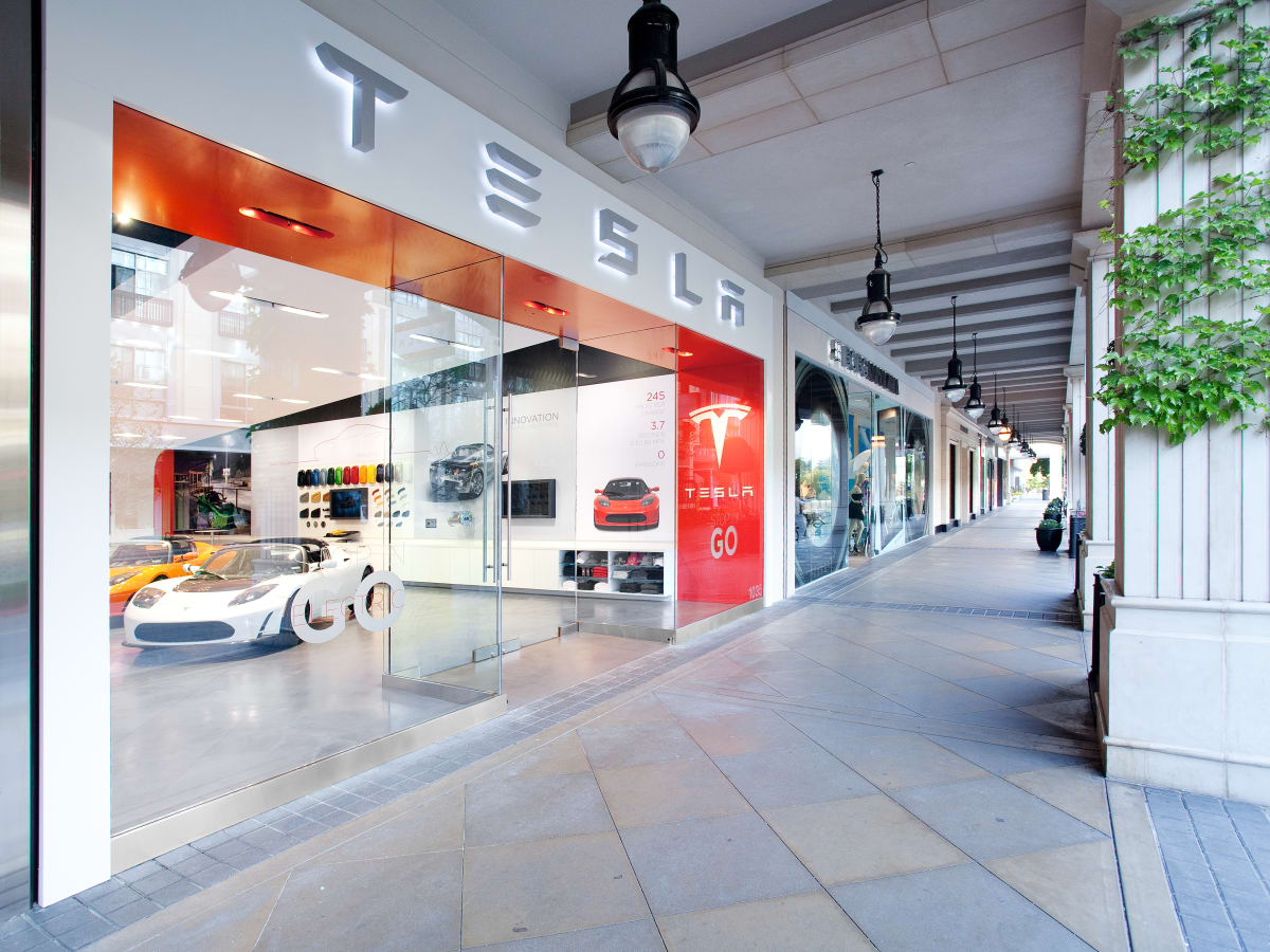 Tesla store at Santana Row San Jose California