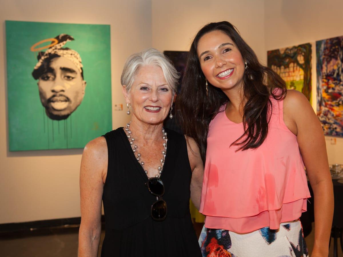 News, Shelby, Muir Gallery mural party,  July 2015,  Brenda Hilton, Lujiza Ferreira