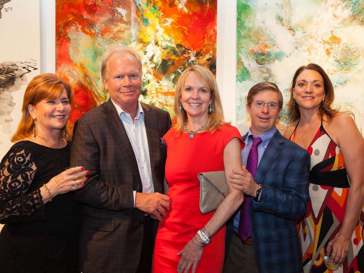 News, Shelby, Muir Gallery mural project party, July 2015, Candace Burns, Corky Hillhouse, Brenda Hillhouse, Austin Hanson, Laurie McNay
