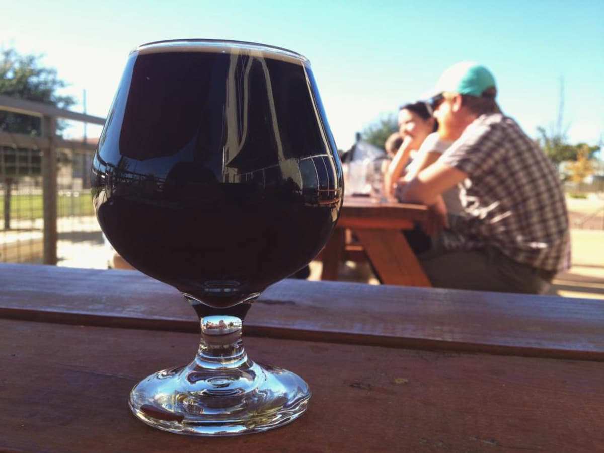 Black Star Co-op brewery pub Austin restaurant beer patio 2015