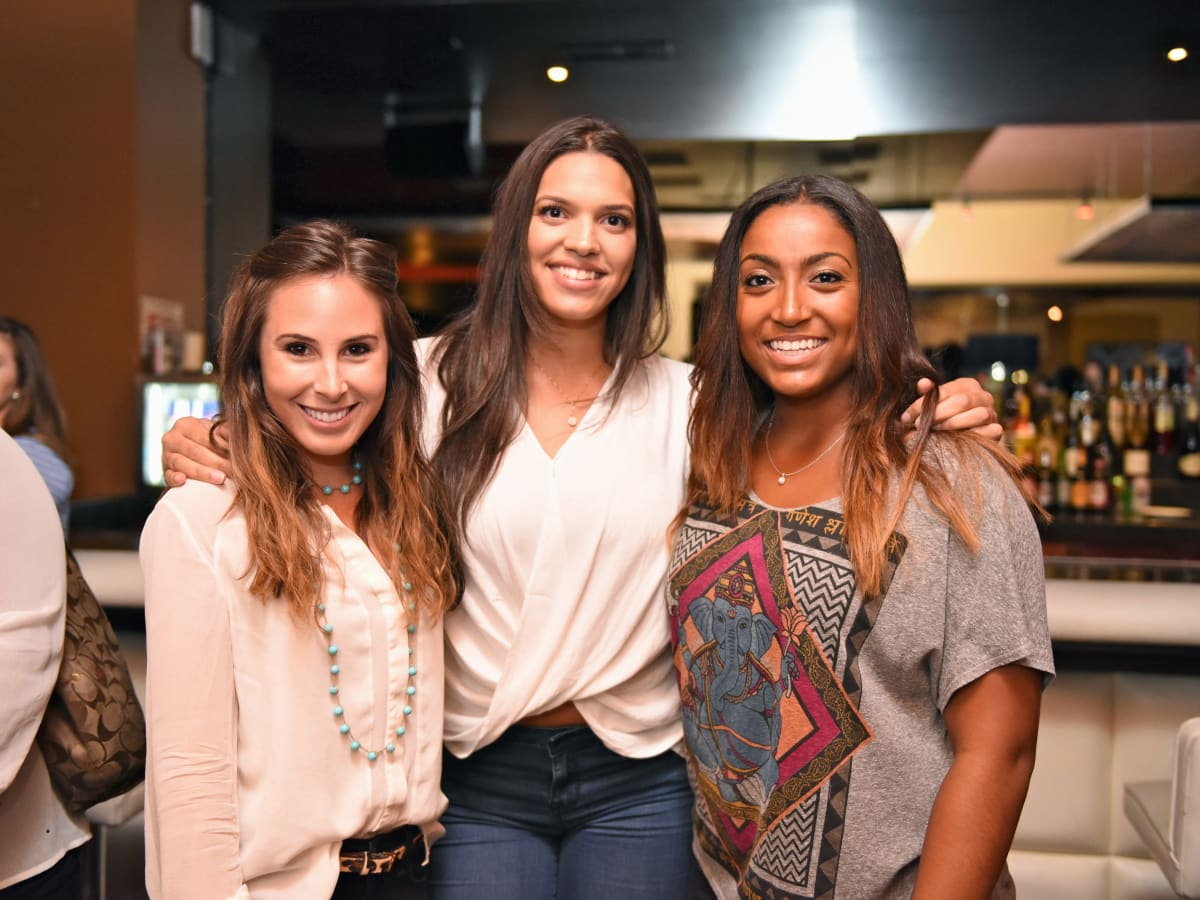 Houston, George Springer All-Star Bowling Benefit, July 2015, Abby Clarke, Charlise Castro, Lena Springer