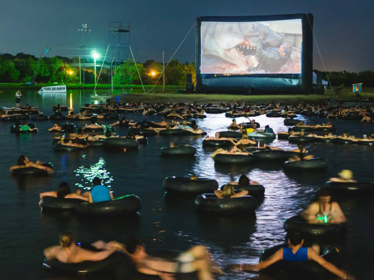 Alamo Drafthouse Rolling Roadshow Jaws on the Water Texas Ski Ranch 2015