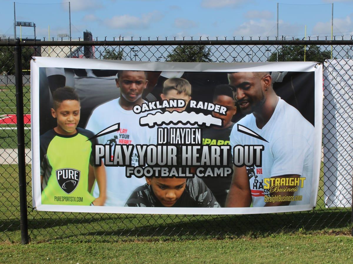 DJ Hayden Football Camp 2015 sign