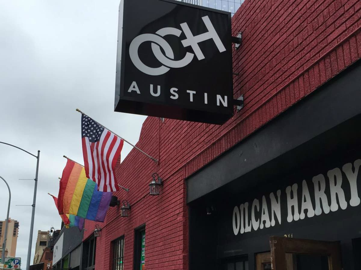 Oilcan Harry's Austin venue gay bar Warehouse District flag 2015