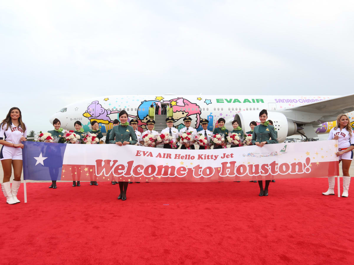 EVA Air Hello Kitty celebration sign