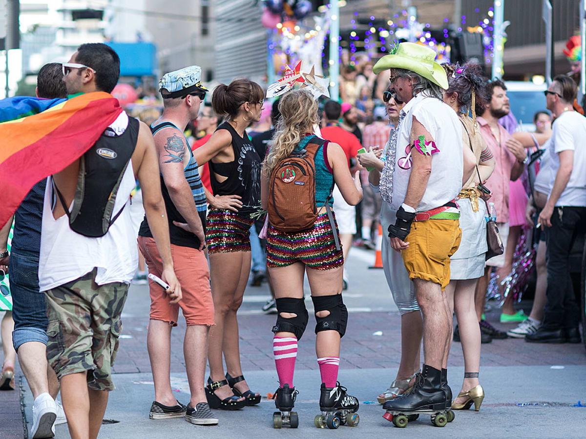 Houston Pride 2015 rollerskaters
