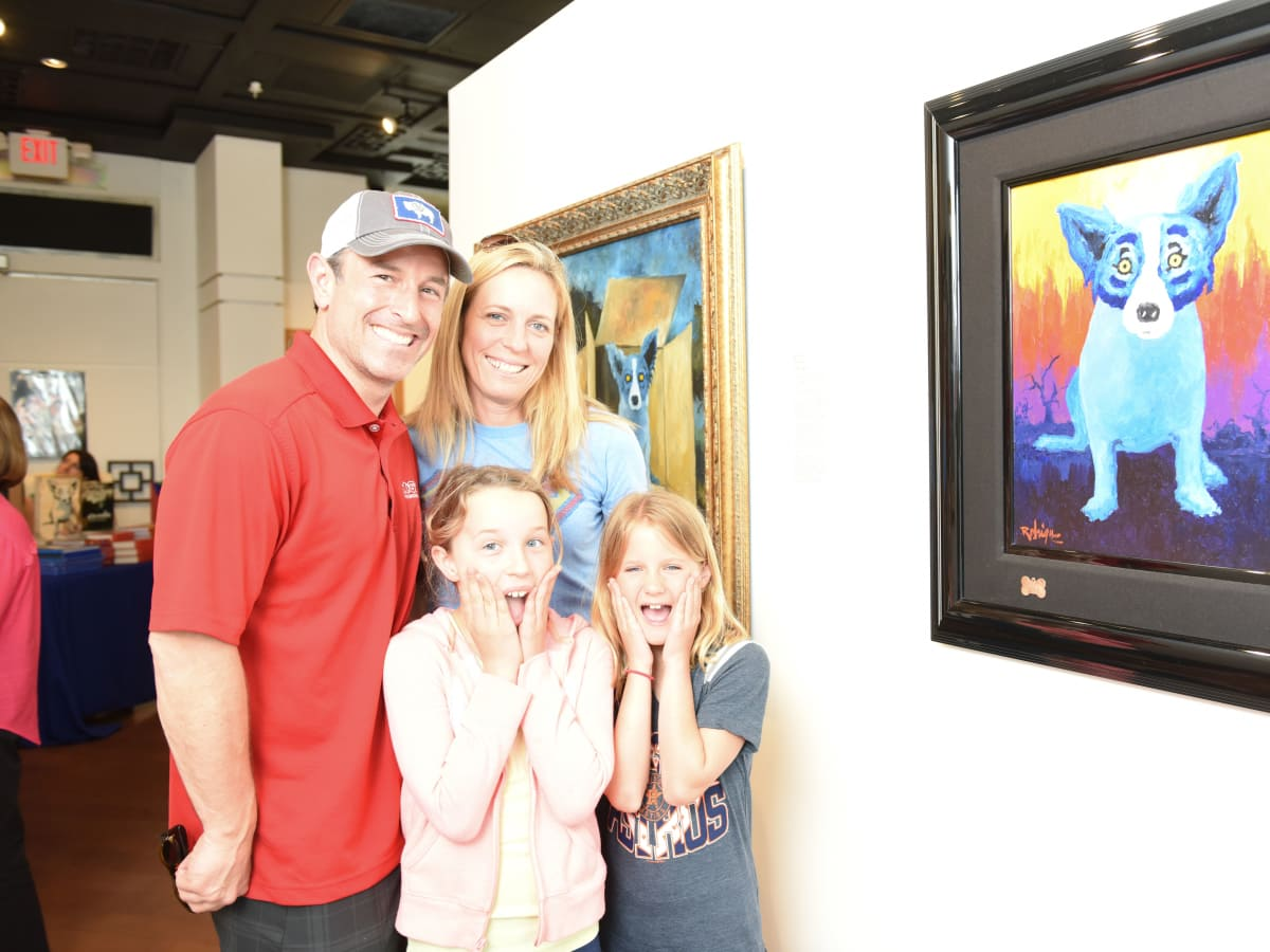 Houston, Rodrigue:Houston family day, June 2015, Matt, Melinda, Macy and Aly Mogas