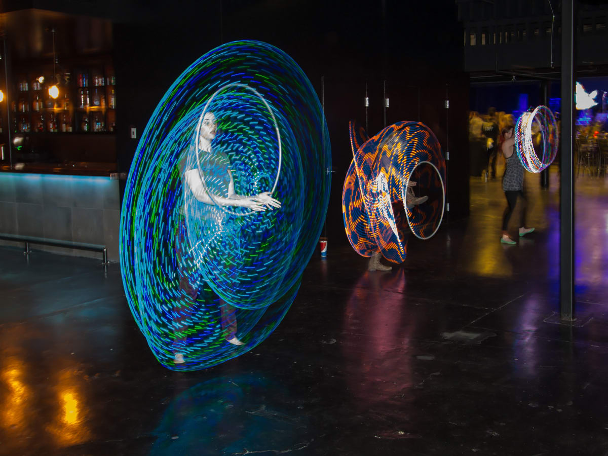 Hula hoopers at CultureMap Dallas Music Social 2015