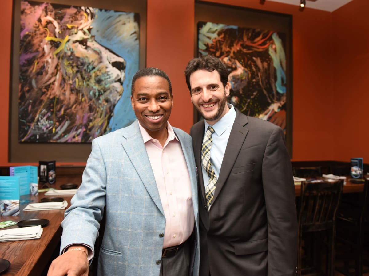Houston, George Springer Bowling Benefit Kick Off, June 2015, Khambrel Marshall, Noah Cornman