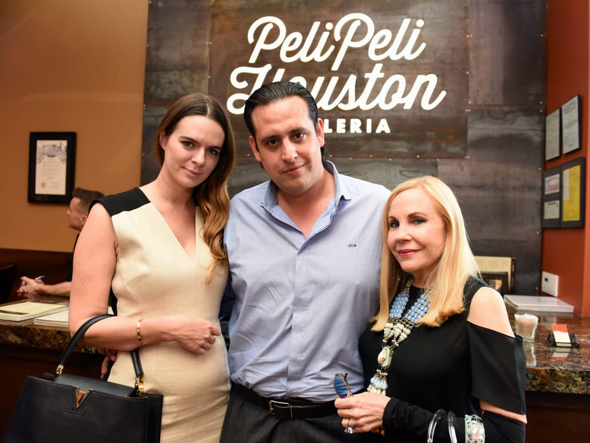 Houston, George Springer Bowling Benefit Kick Off, June 2015, Eloise Frischkorn,Luis Bauer,Carolyn Farb