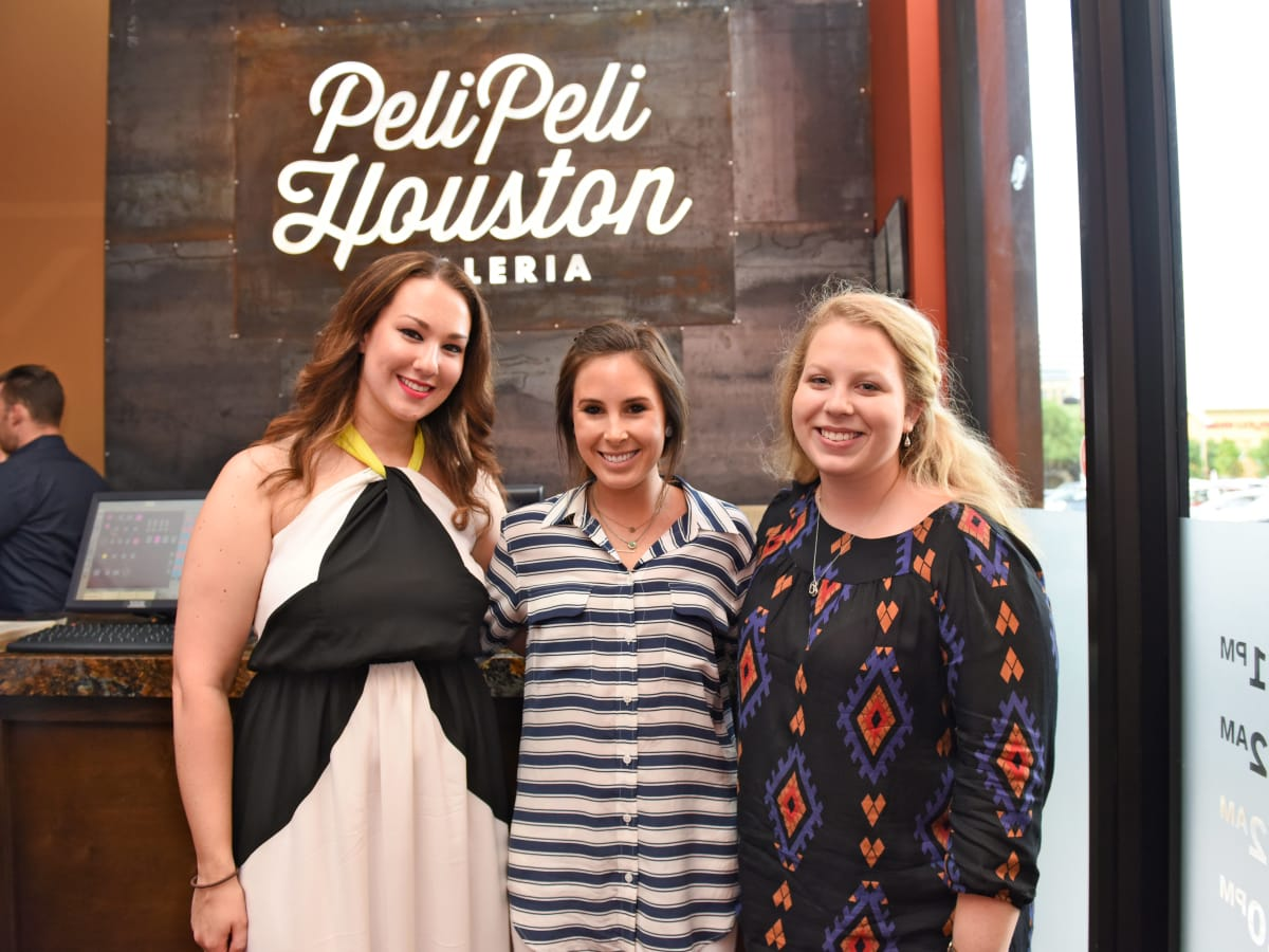 Houston, George Springer Bowling Benefit Kick Off, June 2015, Alexandra Gintoli, Abby Clarke, Rachel Amalfitano