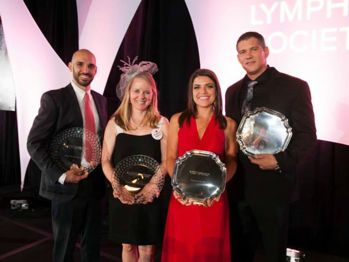 Leukemia & Lymphoma Society's Man & Woman of the Year Gala_Trey Axe_Stephanie Simpson_Shannon Wolfson_Dylan Reed_2015