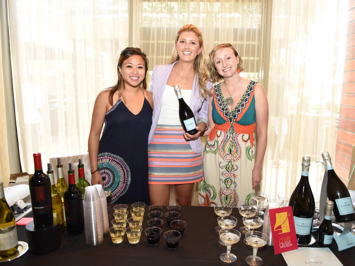 News, Shelby, Curry Crawl , June 2015,Kristine Padua, Catherine Chambers and Jen Simpson