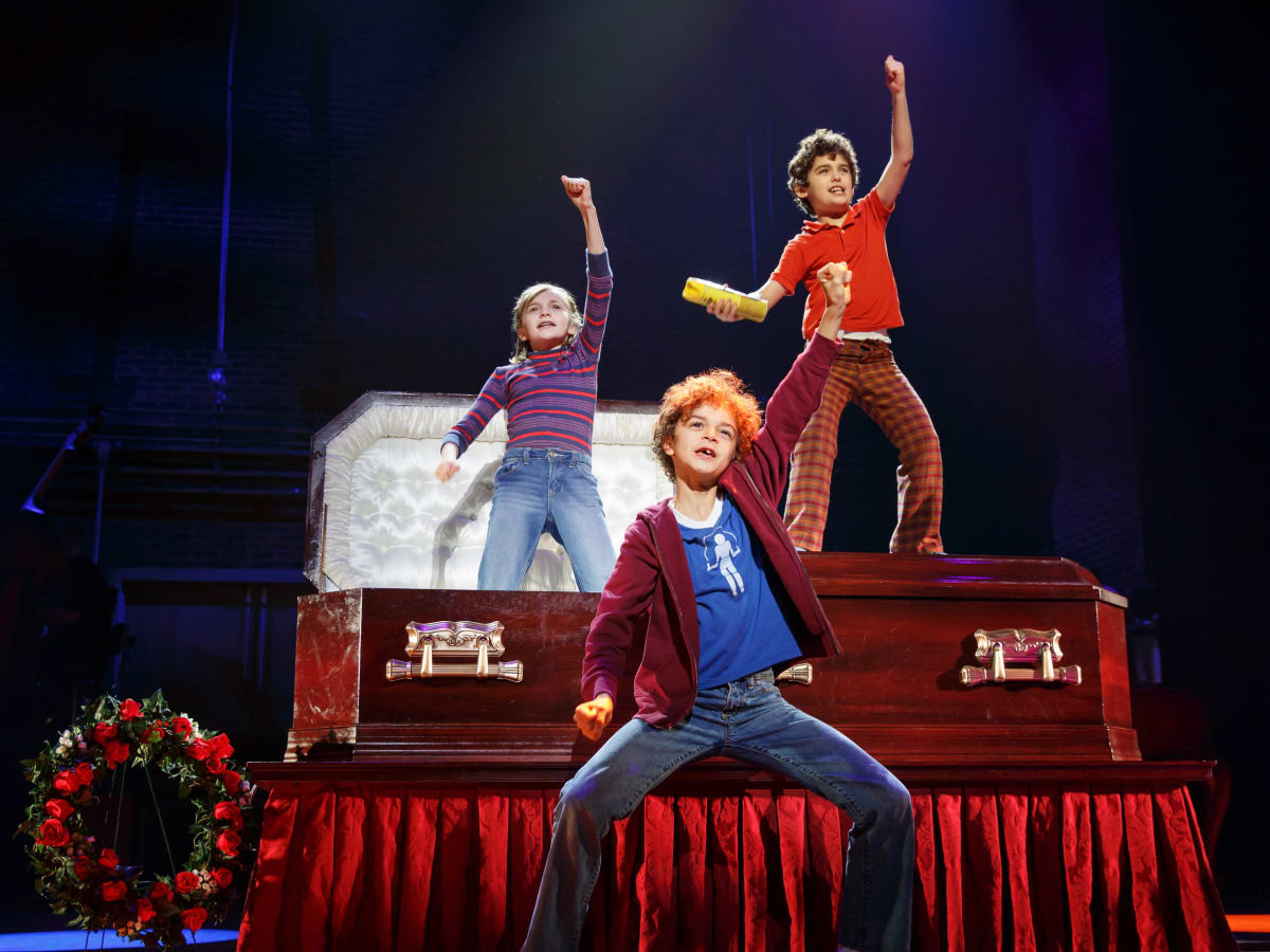Fun Home Tour Carly Gold as Small Alison, Pierson Salvador as Christian, Lennon Nate Hammond as John