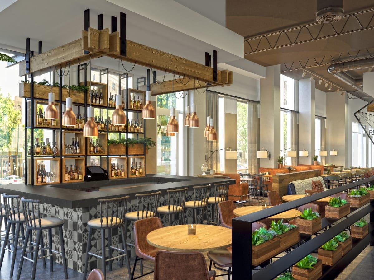 Aloft Element Hotel restaurant 2017