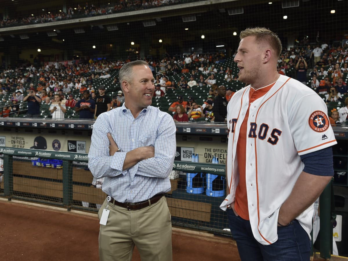 Reid Ryan, JJ Watt at Astros game