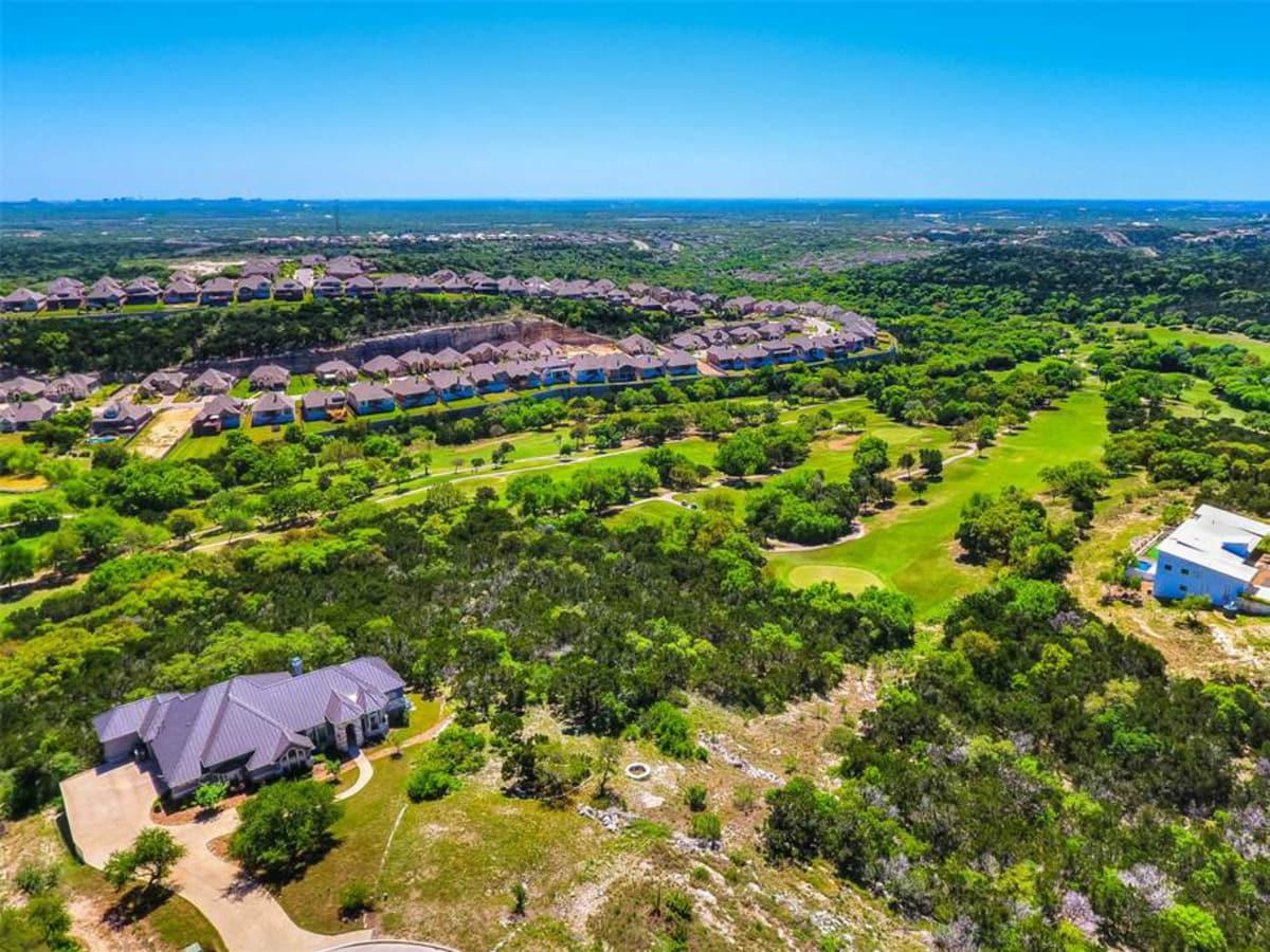Cross Mountain San Antonio suburb 78255 aerial view
