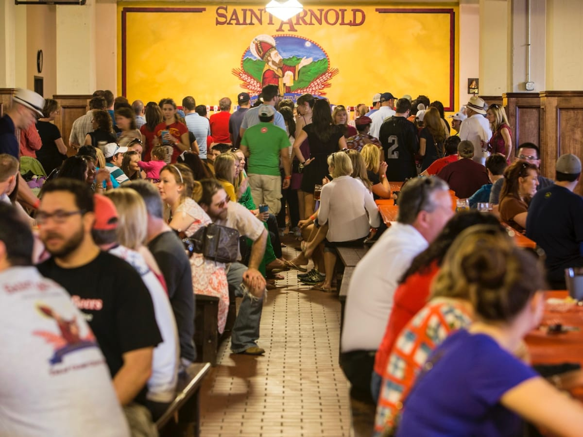 Saint Arnold Brewing Company tour hall